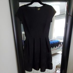 Taylor Black Fit and Flare Dress